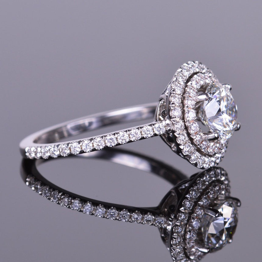 Diamond Ring with Double Halo