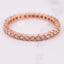 diamond hexagon eternity band in rose gold