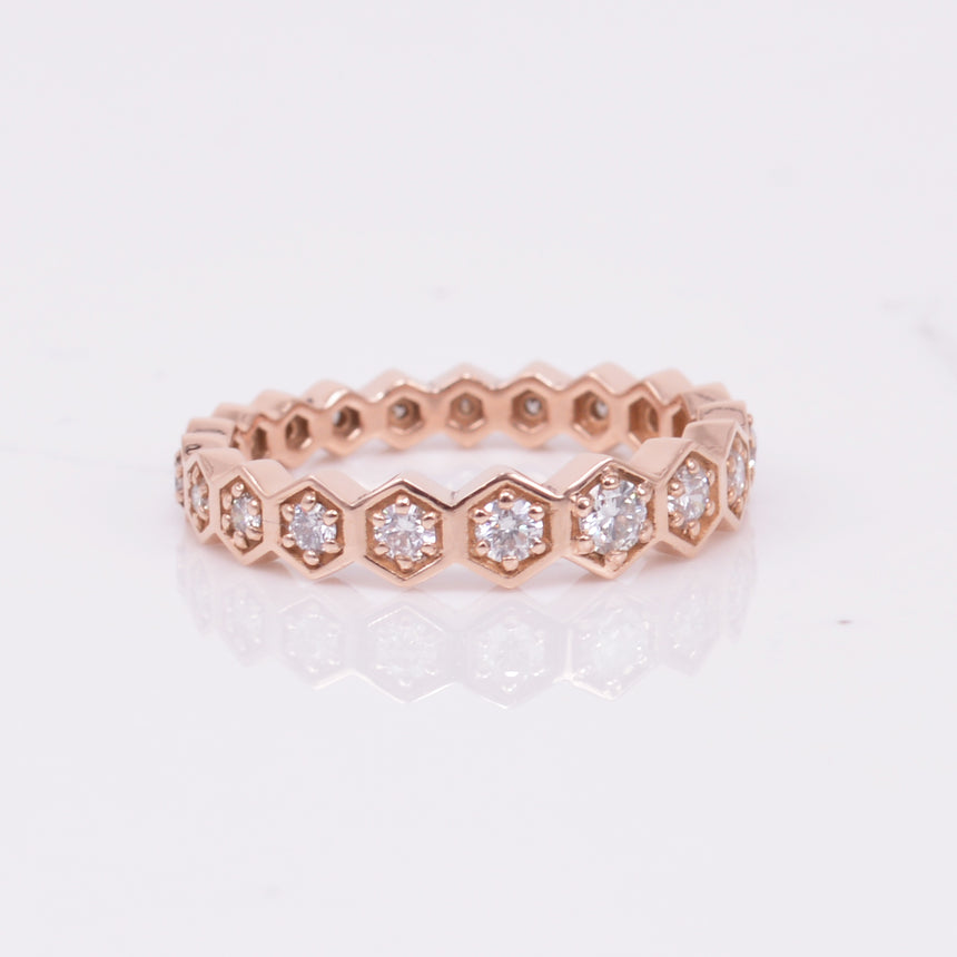 Diamond Graduating Hexagon Eternity Band