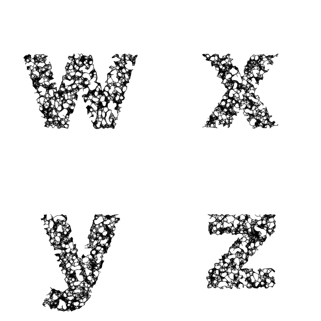 Wires Balanced Monochrome - Generative Lettering