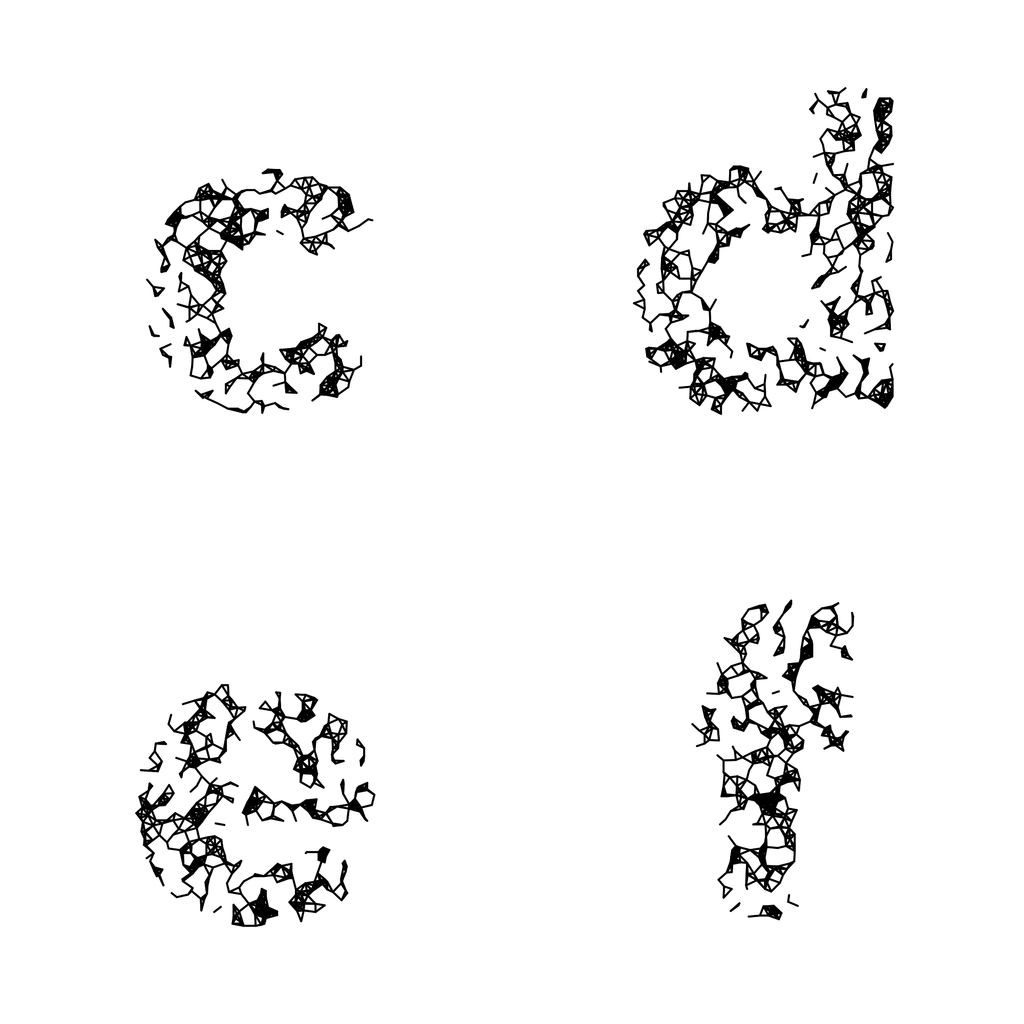 Wires Sparse Monochrome - Generative Lettering