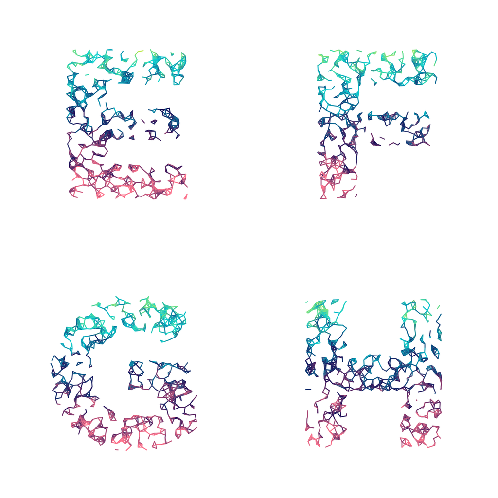 Wires Sparse Mutant - Generative Lettering