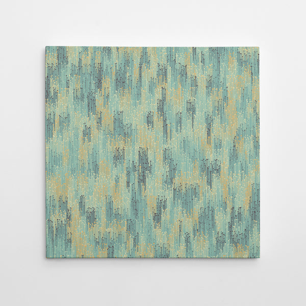 Verticals - Teal & Yellow