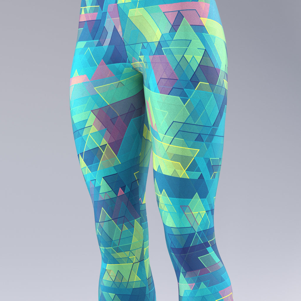 Equilateral Confusion Green & Blue - Leggings