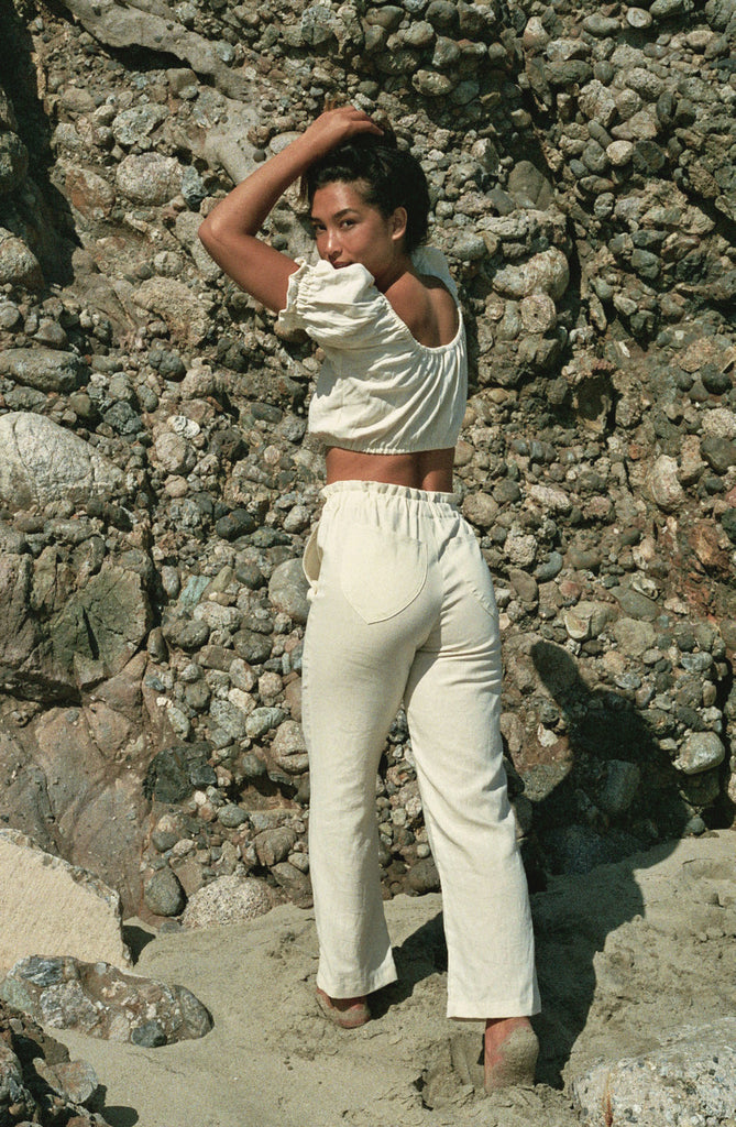 Leisure Pant - Ivory Linen