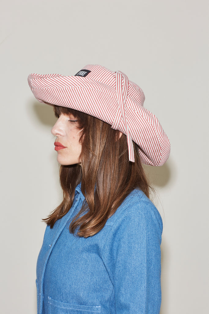Jem Hat - Red Hickory Stripe