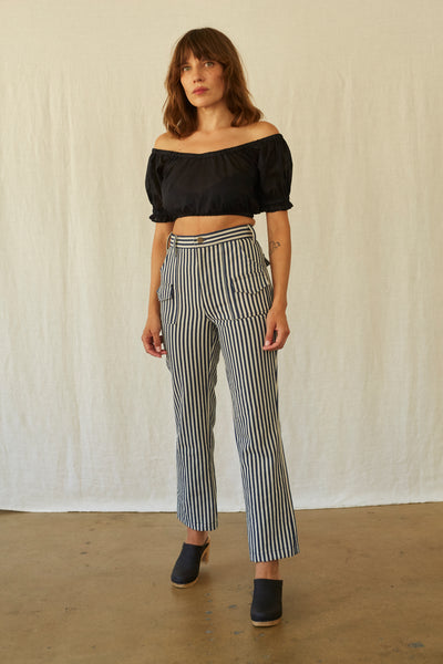 Scout Pant- Stripe Denim