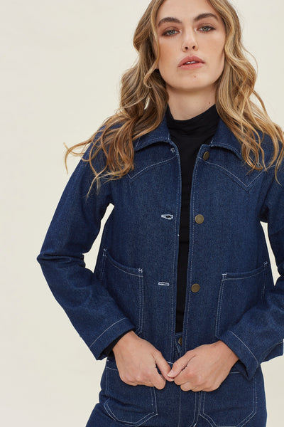 Shrunken Ranch Jacket -Cowboy Denim