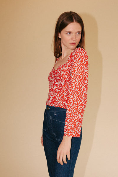 lykkewullf-womens-red-daisy-georgia-blouse