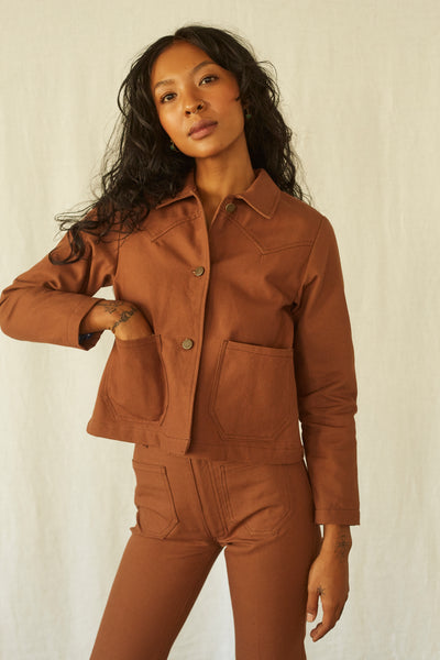 Shrunken Ranch Jacket -Nutmeg Canvas