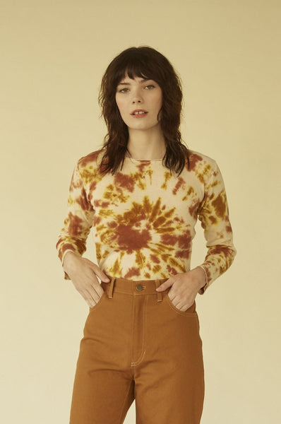 Rosie Tee- Golden brown Hemp thermal