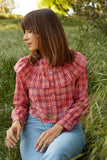 Clover Top - Red Plaid