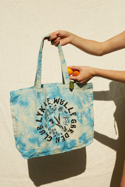 Garden Club Large Tote Bag -Cloud