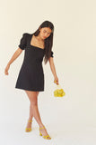 Fig Dress - Black Linen