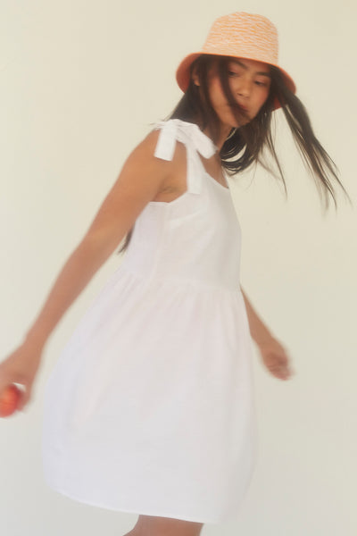 Sorrel Dress - White Linen