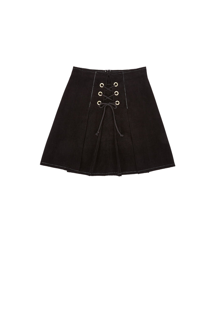 Women's high waisted black skirt