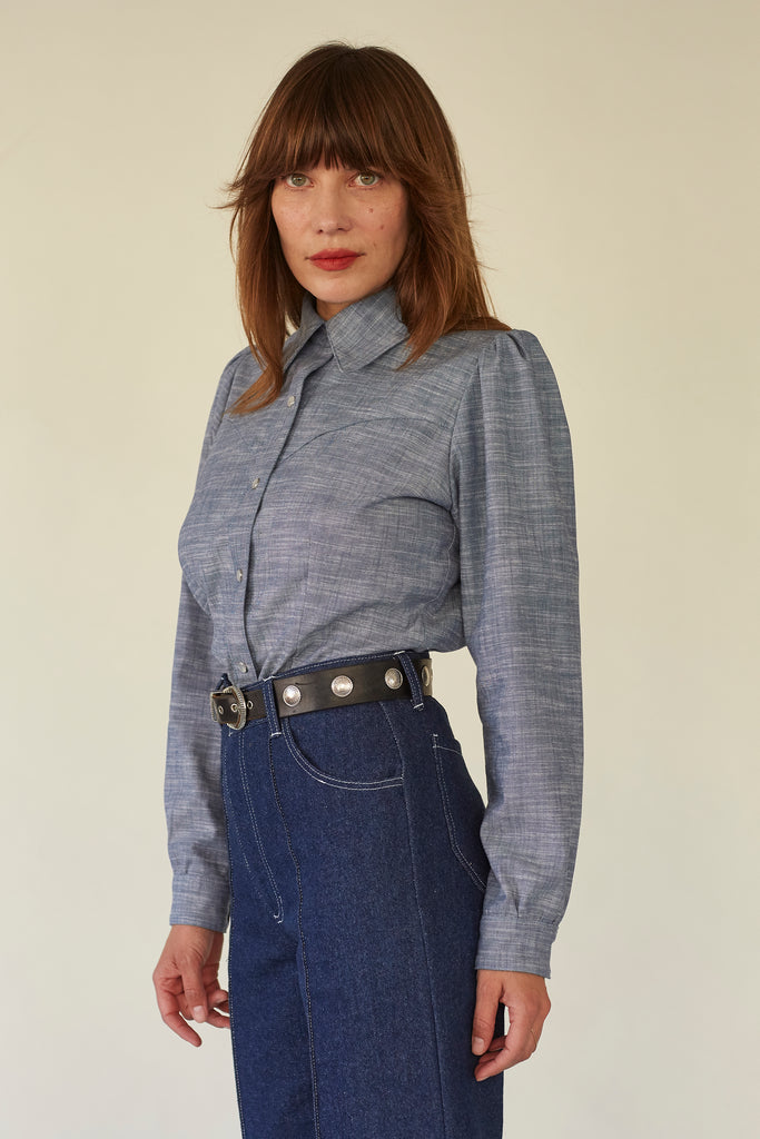 Cowgirl Shirt- Chambray
