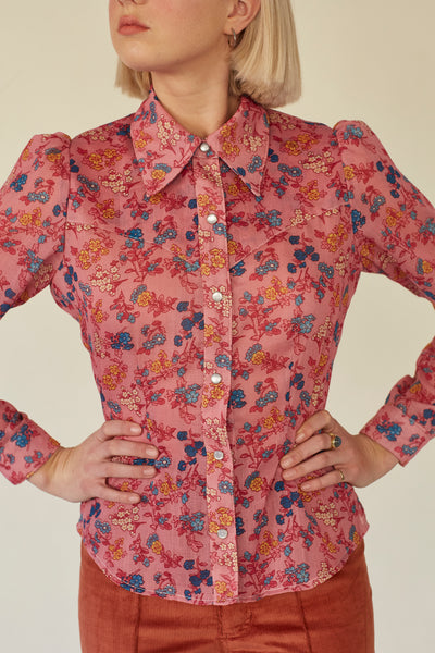 Cowgirl Shirt- Floral