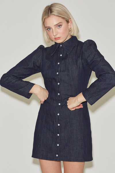 The Cowgirl Dress- Linen Denim
