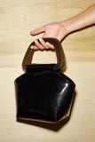 Mini Margot Purse -Black Patent
