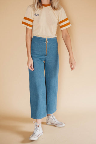 Denim Jesse Zip Up Pant