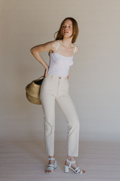 Perfected Ranch Pant - Cream Canvas