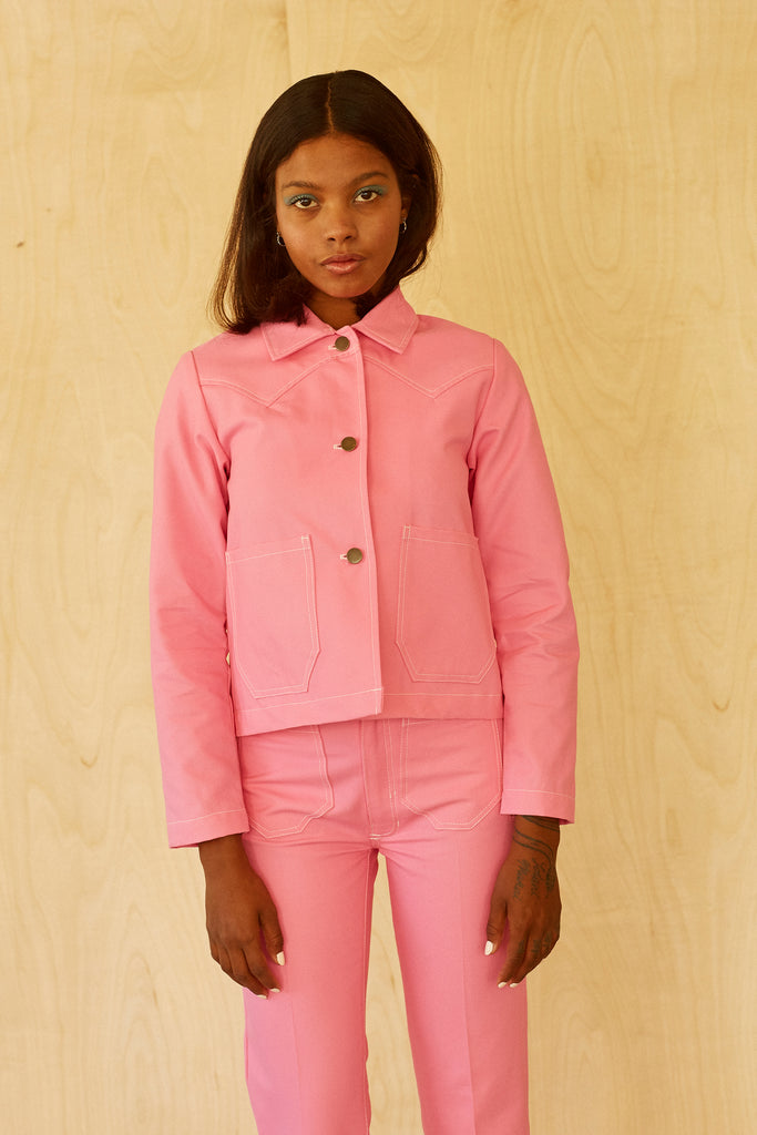 Shrunken Ranch Jacket -Bubblegum Canvas