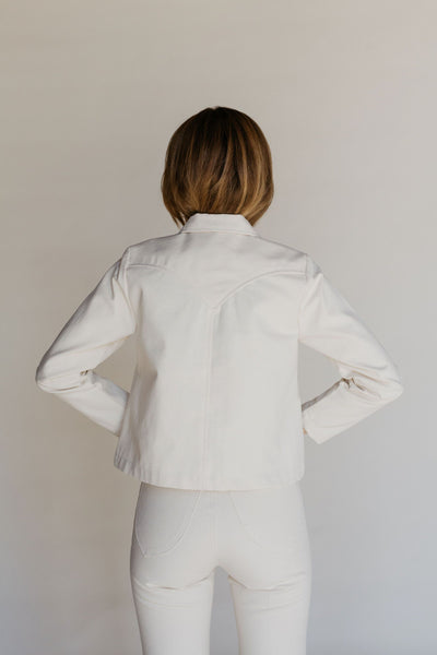 Shrunken Ranch Jacket - Cream Canvas