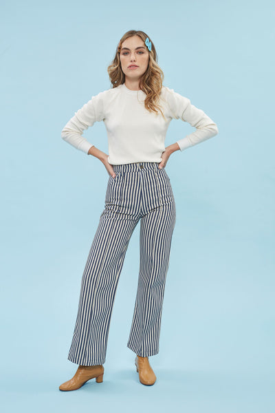 El Capitan Pant - Stripe Denim