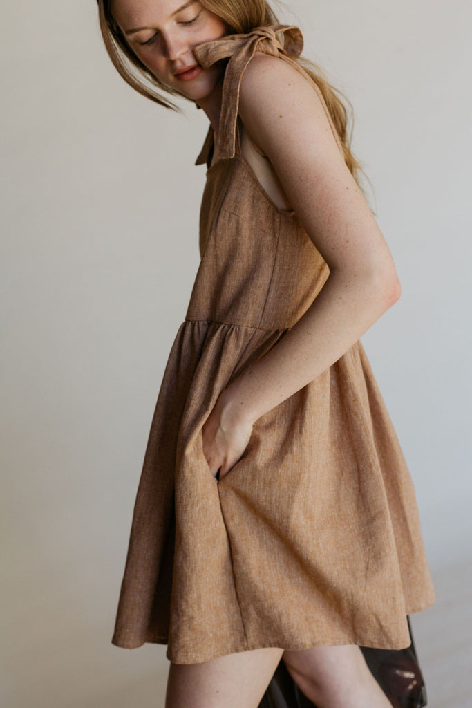 Sorrel Dress - Pecan Linen