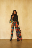 Perfected Ranch Pant -Rainbow Plaid