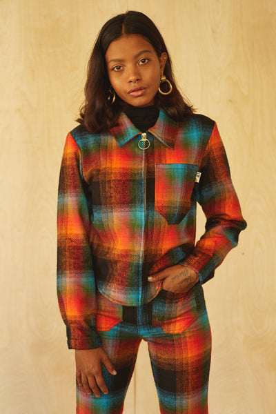 Forest Jacket- Rainbow Plaid