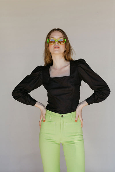 Fig Blouse - Black Handkerchief
