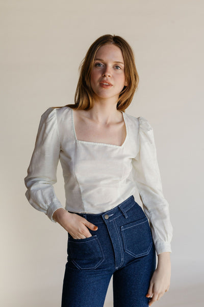 Fig Blouse - White Handkerchief