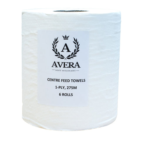 Avera Centrefeed 1-ply White