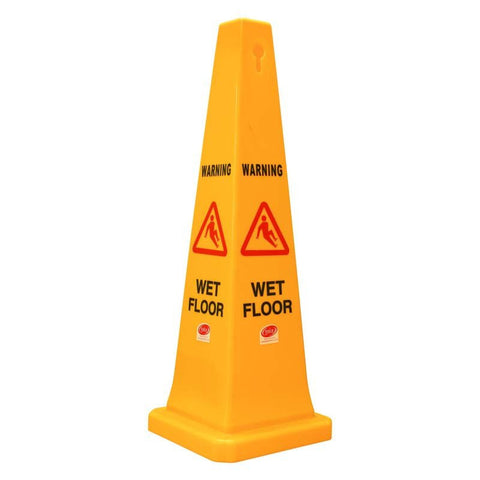 Safety Cone - Wet Floor Yellow