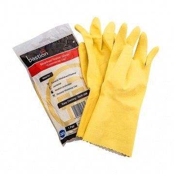 Bastion Yellow Rubber Gloves