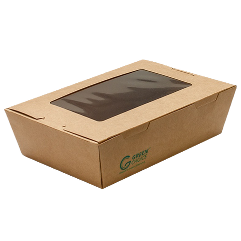 Green Choice Takeaway Box with Window - Small