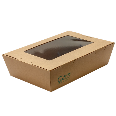 Green Choice Takeaway Box with Window - Medium
