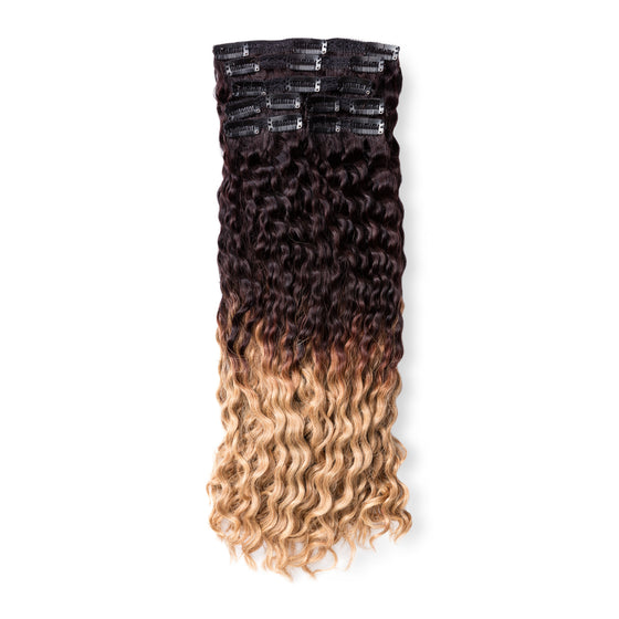"KUMARI ROYALE Kinky Curl 160G 20"" Ombre Off Black/Light Golden Blonde (1B/27)"