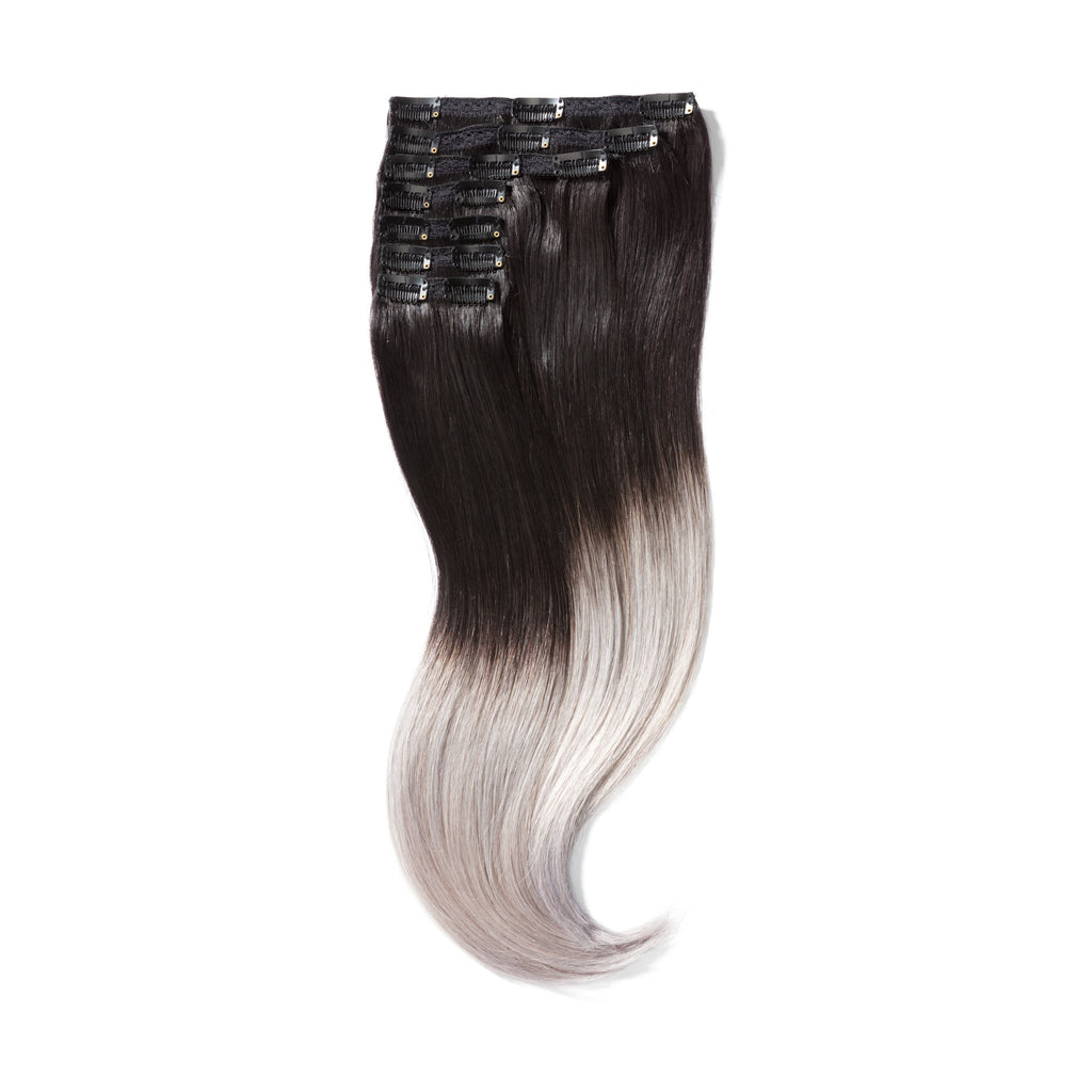 "KUMARI QUEEN 120G 20""Ombre Off Black/Silver Grey (1B/Silver)"