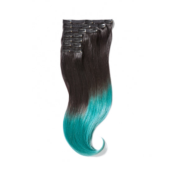 "KUMARI QUEEN 120G 20""Ombre Off Black/Teal (1B/Teal)"
