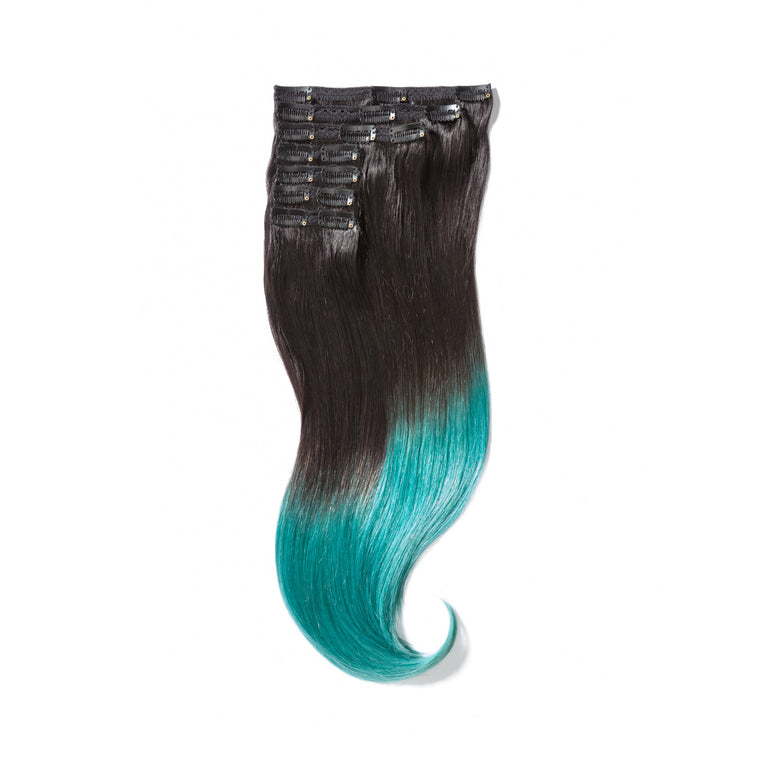 "KUMARI ROYALE 160G 20"" Ombre Off Black/Teal (1B/TEAL)"
