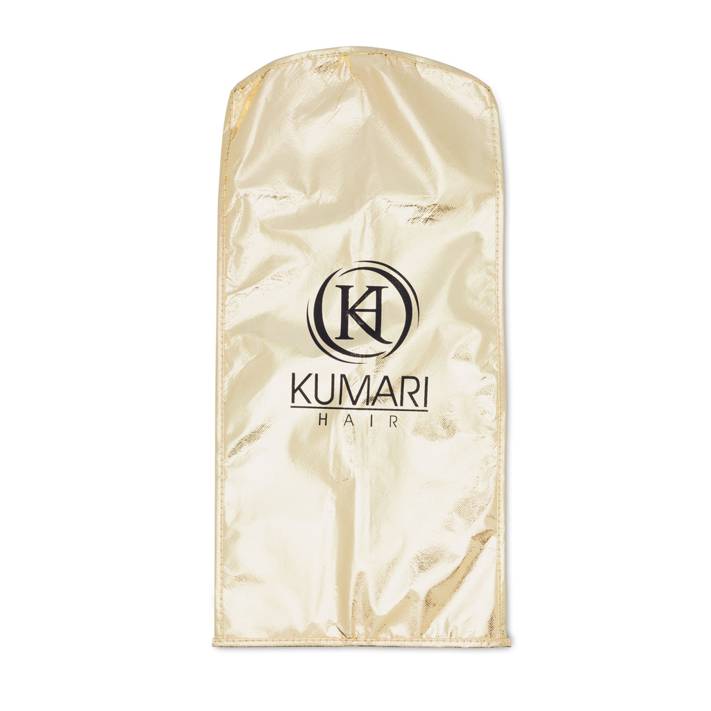KUMARI Hair Extensions Storage Bag (Gold/Black)