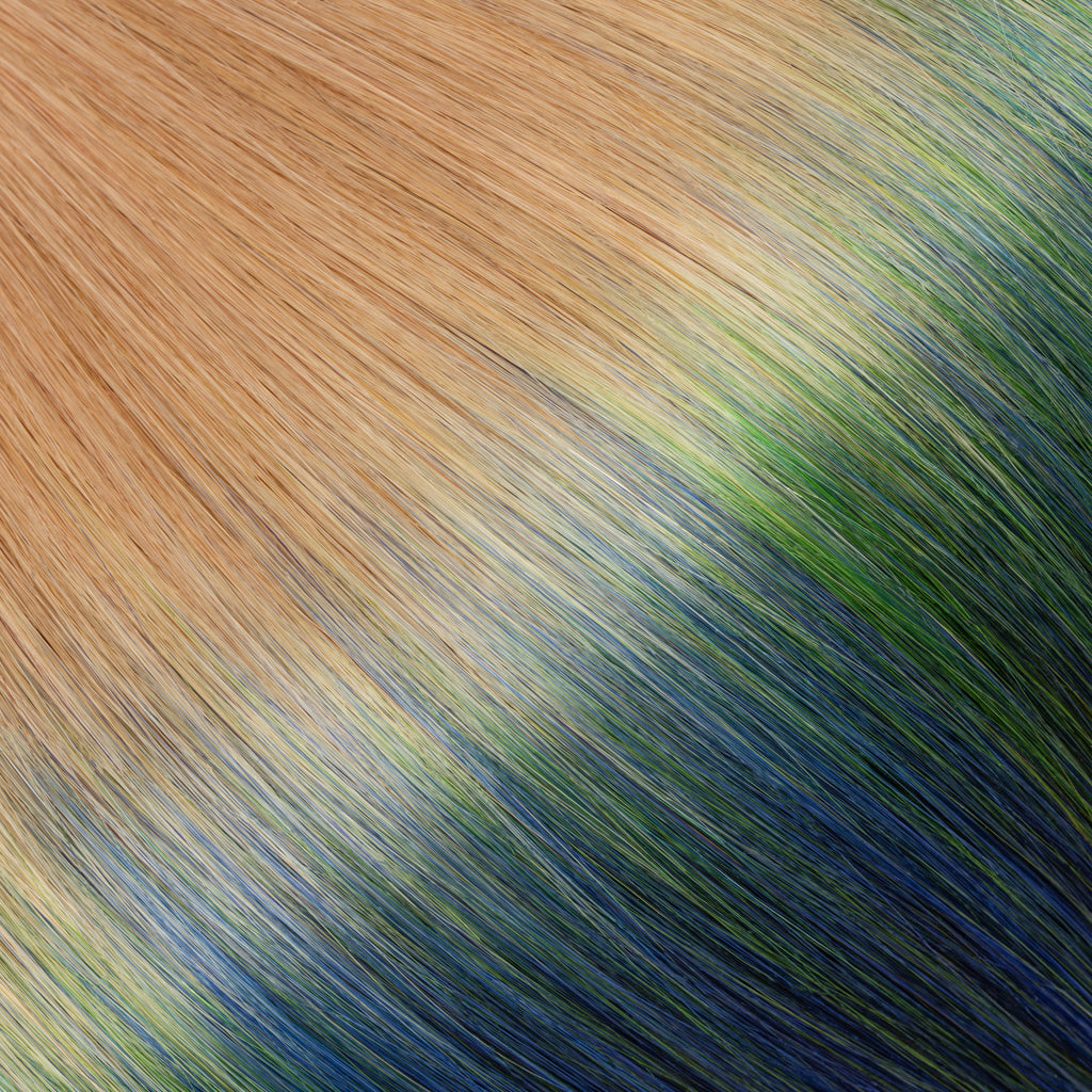 "KUMARI QUEEN 120G 20""Ombre Light Golden Blonde/Blue/Green (27/Blue/Green) Seahawks Special"