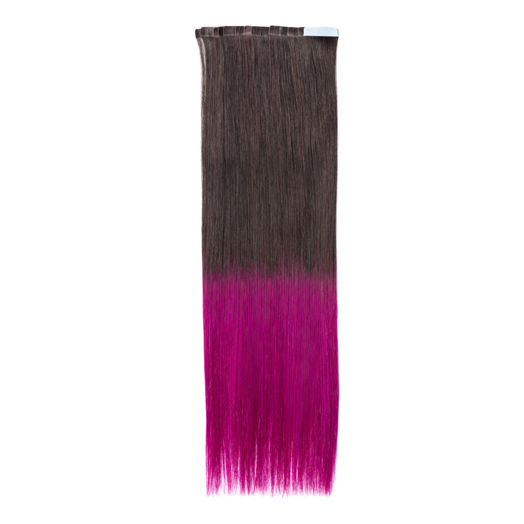 "ELEGANT 50G 20"" Tape-In Extensions Ombre Off Black/Purple (1B/Purple)"