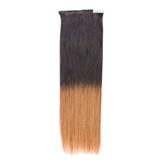 "ELEGANT 50G 20"" Tape-In Extensions Ombre Off Black/Chestnut Brown (1B/6)"