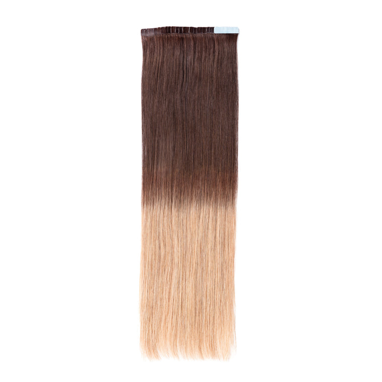 "ELEGANT 50G 20"" Tape-In Extensions Ombre Dark Brown/Light Golden Blonde (2/27)"