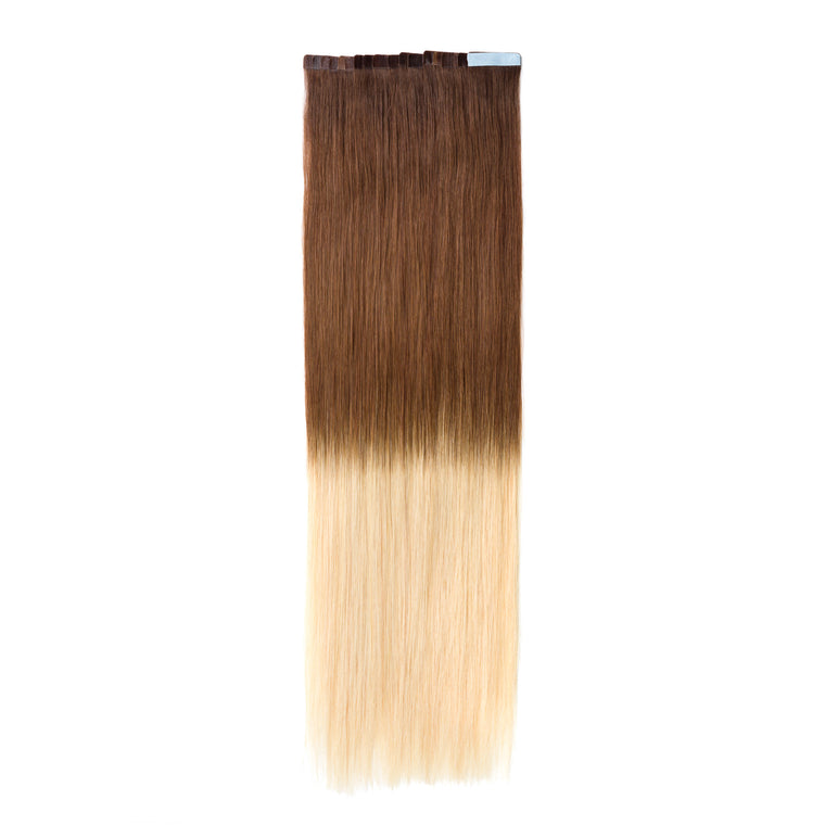 "ELEGANT 50G 20"" Tape-In Extensions Ombre Chocolate Brown/Beach Blonde (4/613)"