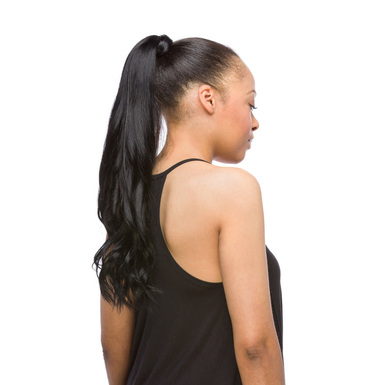 "GORGEOUS Ponytail 120G 20"" Jet Black (1)"